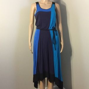 ANN TAYLOR : HI-LOW SLEEVELESS MAXI DRESS:  Size 2